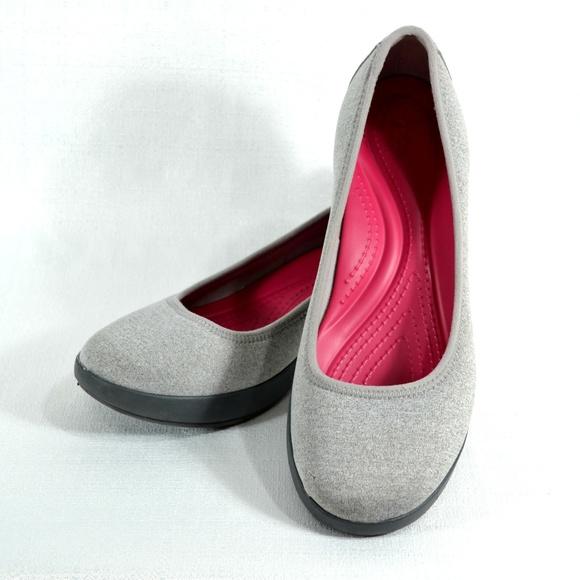 806ec70fa crocs Shoes - CROCS Busy Day Heathered Ballet Wedge Women s Shoe